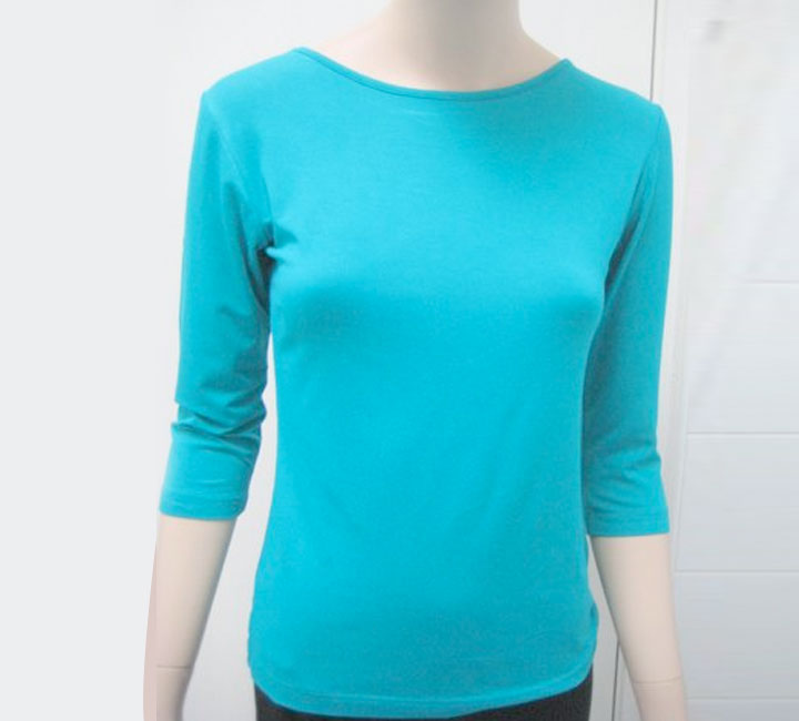 Bamboo Boat Neck Top - Simply Silk