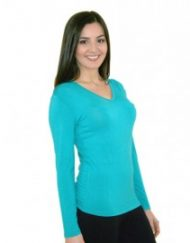 Bamboo V Neck Top - Simply Silk