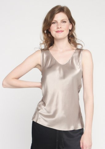 Sleeveless Silk Shell top - Simply Silk