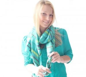 Striped silk scarf - Simply Silk