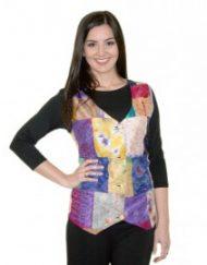 Silk Patchwork Waistcoat - Simply Silk