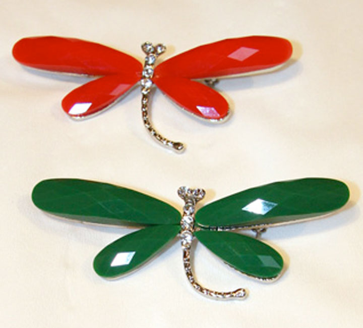Dragonfly Brooches - Simply Silk