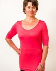 Bamboo top with half sleeves - Simply Silk