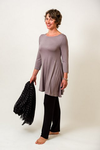 Taupe bamboo dress